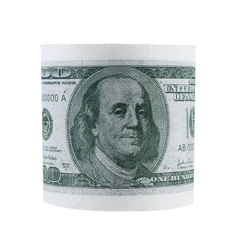 1PC Funny One Hundred Dollar Bill Toilet Roll Paper Money Roll $100 Novel Gift Humour Toilet Paper Bill Toilet Paper Roll