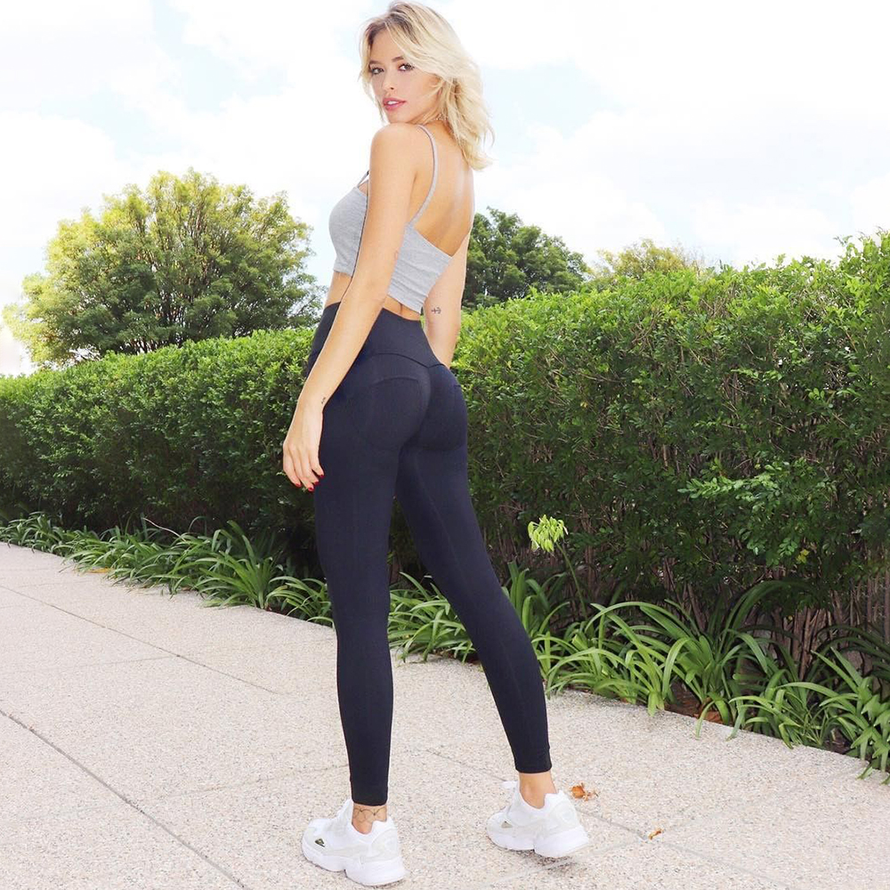 Melody Four Ways Stretchable Cotton High Waist Leggings Women Super Elastic Spandex Zipper Fly Skinny Push UP Plus Size Legging