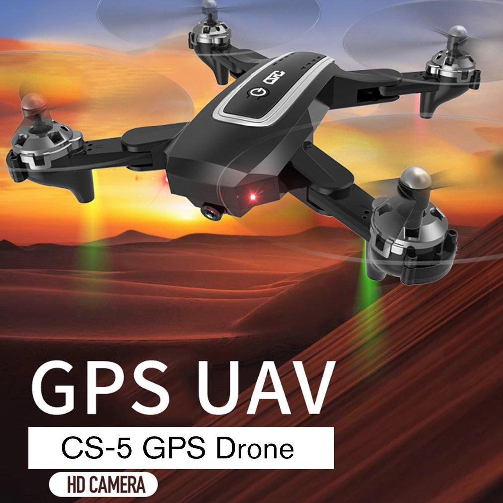 CS 5 zangão de gps com 1080 p hd câmera de dobramento drones quatro eixos helicóptero um retorno chave wifi fpv rc helicóptero menino brinquedos - 4