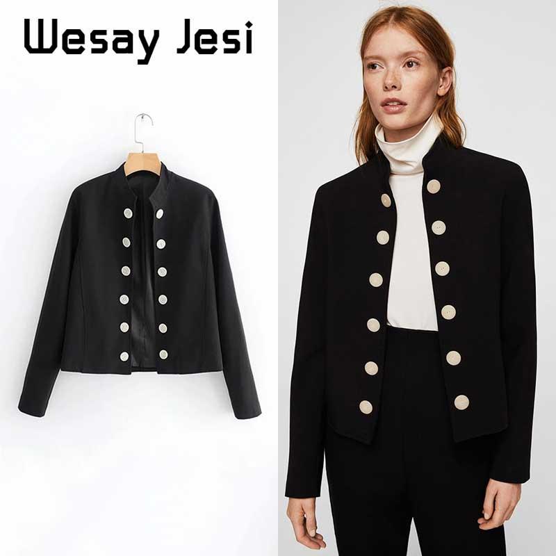 Double breasted long sleeve female blazer solid lining office ladies blazer Autumn winter casual outwear women jacket coat 2019