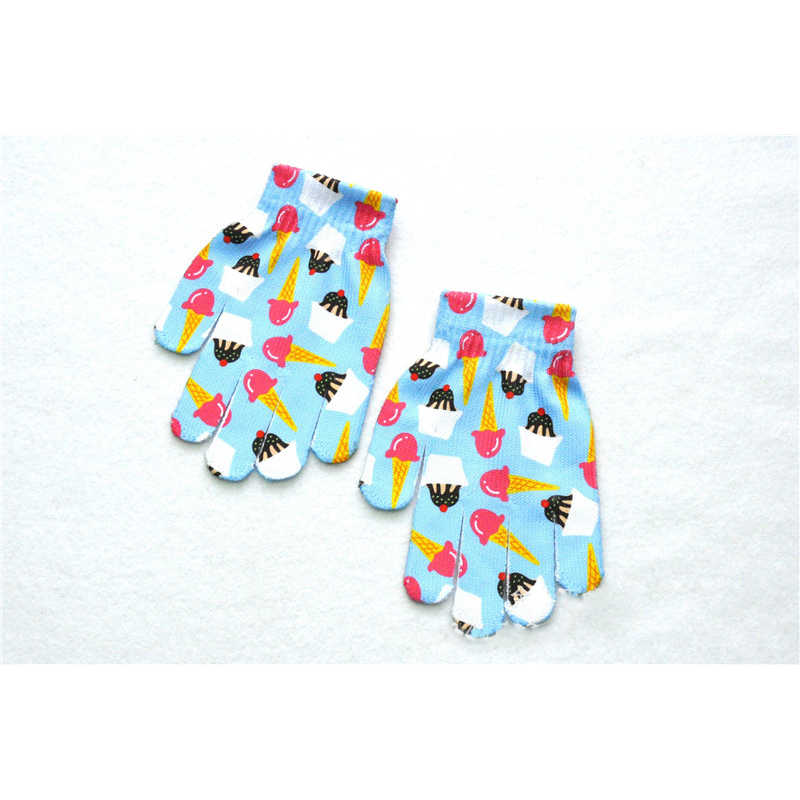 BalleenShiny niños guantes de impresión 3D animales de dibujos animados guantes de dedos divertidos para niños regalos para niños y niñas 7-11Y