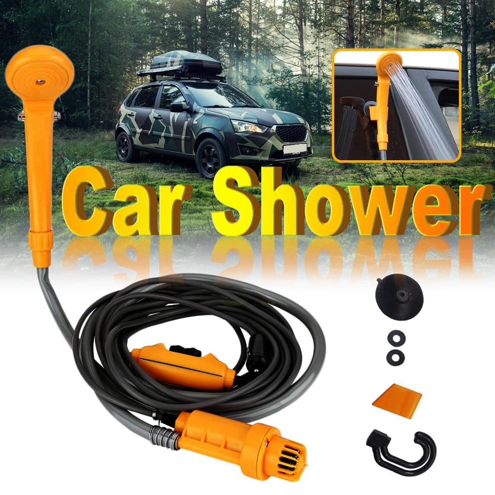 12V Camping Car Shower Spray Pump Kit Portable Vehicle Outdoor Travel Hiking Set