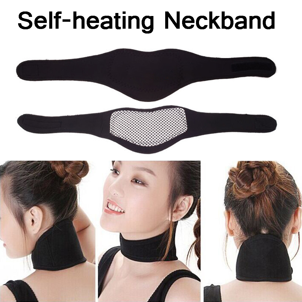 1 Pcs Neck Relaxation Pain Relief Self-heating Pad Cervical Disc Therapy Warmer Magnetic Neckband Neck Support Neck Care Collar