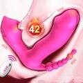 Интимные игрушки для женщин 3 в 1 сосать вибратор 7 Режимы вибрации присоски анальный секс влагалище стимулятор клитора пригодно для полости...