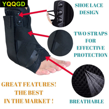 1Pcs Ankle Brace Support Breathable Ankle Brace for Running Basketball Ankle Sprain Prevent and Recover from ankle sprains 1pcs ankle support brace stirrup sprain stabilizer guard ankle sprain aluminum splint