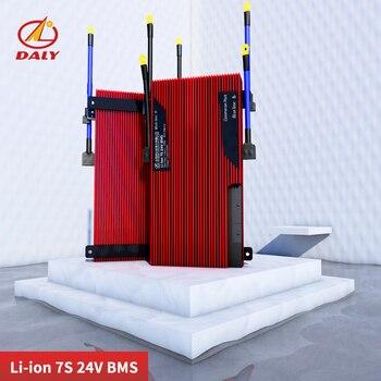 Daly 18650 24v li-ion 7s Bms 29.4v Lithium Battery Bms Charging Voltage 29.4v 80a 100a 120a 150a 200a Bms Pcm for e-bike фото