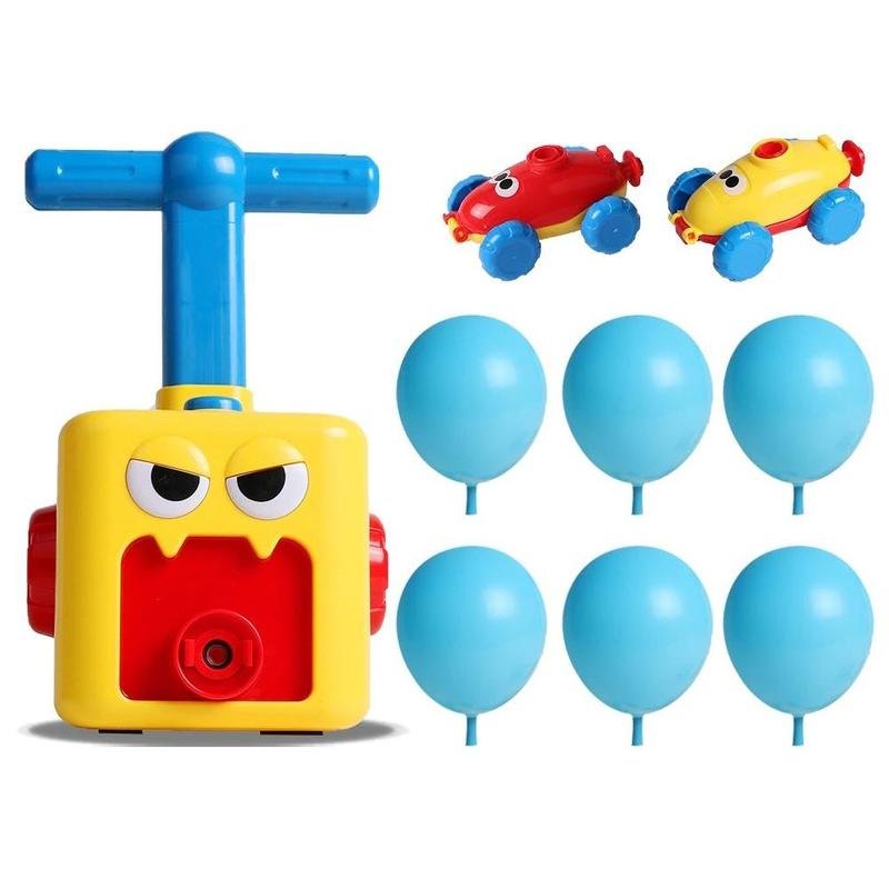 Children Inertial Power Balloon Manual Press Car Science Experiment Inflatable Toy Fun Inertial Power Car Balloon Creative Toy