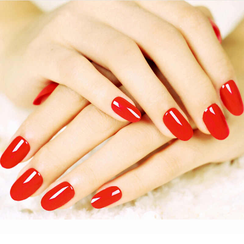 Miękkie cukierki kolor owalna głowa sztuczne paznokcie akrylowe sztuczne paznokcie salon artystyczny porady z 2g klej do paznokci pełne krótkie okrągłe tipsy 24 sztuk/zestaw