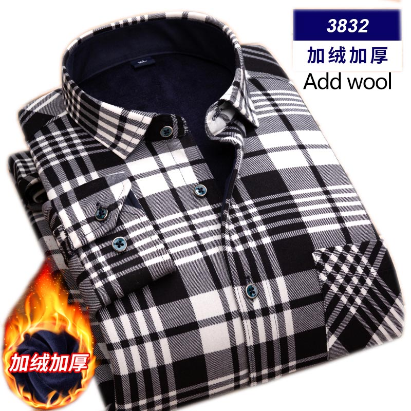 High Quality Mens Shirt Long Sleeve Thicken Warm Shirt Fashion Soft Casual Flannel Shirt Comfortable Plus Size L-4XL Mans Shirt