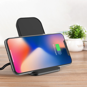 Image 2 - Desktop Wireless Phone Charger Metal Stand Holder for Xiaomi mi9 10W Fast Charge Qi Wireless Charger for Samsung S10 S9 S8 Plus