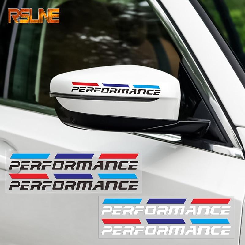 2pcs M Power Performance Car Rearview Mirror Sticker For Bmw E46 E90 F20 E60 E39 F10 X1 X3 X4 X5 X6 X7 320i 325i 520i 530i 528i