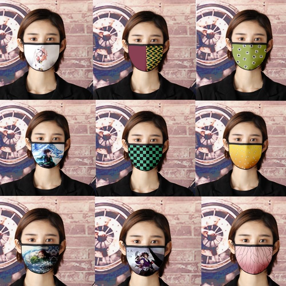 Anime Demon Slayer Kimetsu No Yaiba Cosplay Mask Cartoon Anti Dust Mouth Mask Cycling Sports Breathable Face Masks Props
