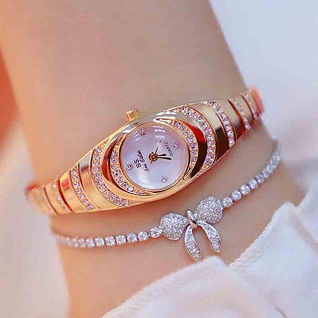 여자의 시계 2020 뜨거운 판매 럭셔리 시계 석영 작은 다이얼 숙녀 로즈 골드 시계 여성 패션 시계 여성 시계