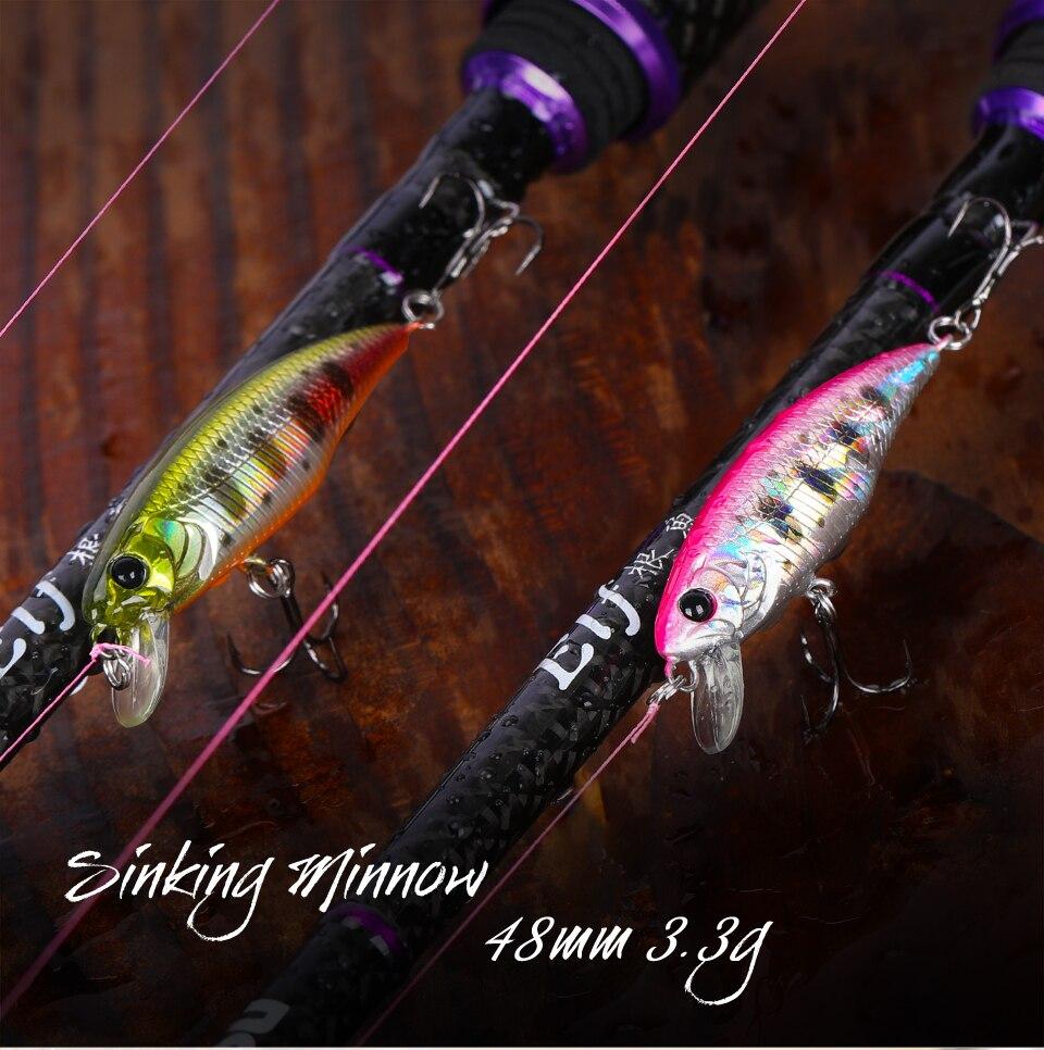 Leurre coulant de type Jackson Meteora 48 mm, 3.3 gr, 18 couleurs