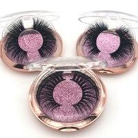 40 Pairs/Pack Eyelashes 3D Mink Lashes Rose gold box Hand Made Full Strip Lashes Mink False Eyelashes Makeup eyelashes Fluffy