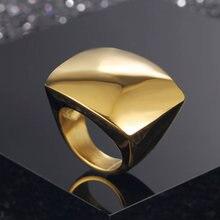 Новинка 2019 Модные Золотые Большие кольца для женщин бижутерия
