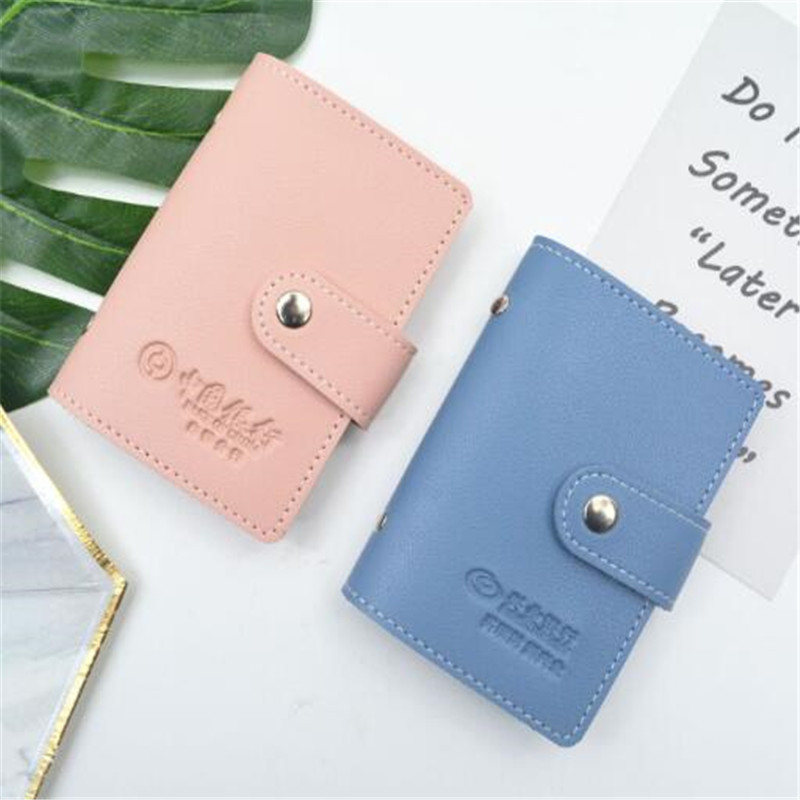 Fashion Unisex Business Card Holder Women Credit Card Case ID Bag For Men Clutch Organizer Wallet With Driver's License Slots