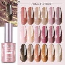 MIZHSE 6PCS Gel Nail Polish Set High Gloss 18 Colors Semi Permanent Varnishes Hybrid UV Gel Glitter Polish for Manicure Nail Art