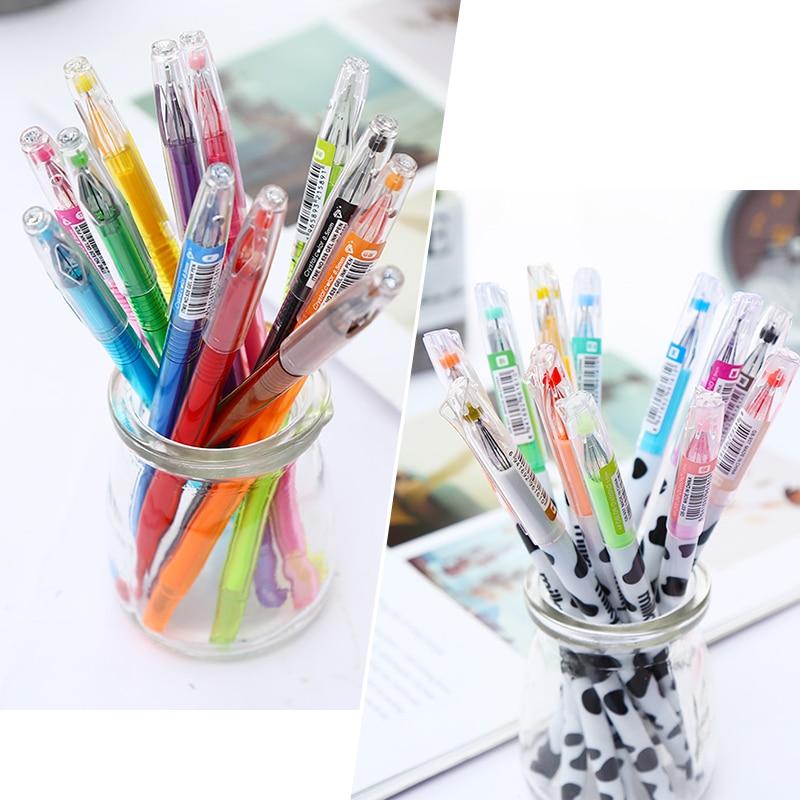 Fancy Rainbow Glitter Colored Gel Pen
