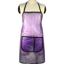 Professioanl PVC Hair Apron With Pocket Pet Shop Work Apron Waterproof Hairdressing Pinafore Hot Selling adjustable strap pocket patched pinafore dress