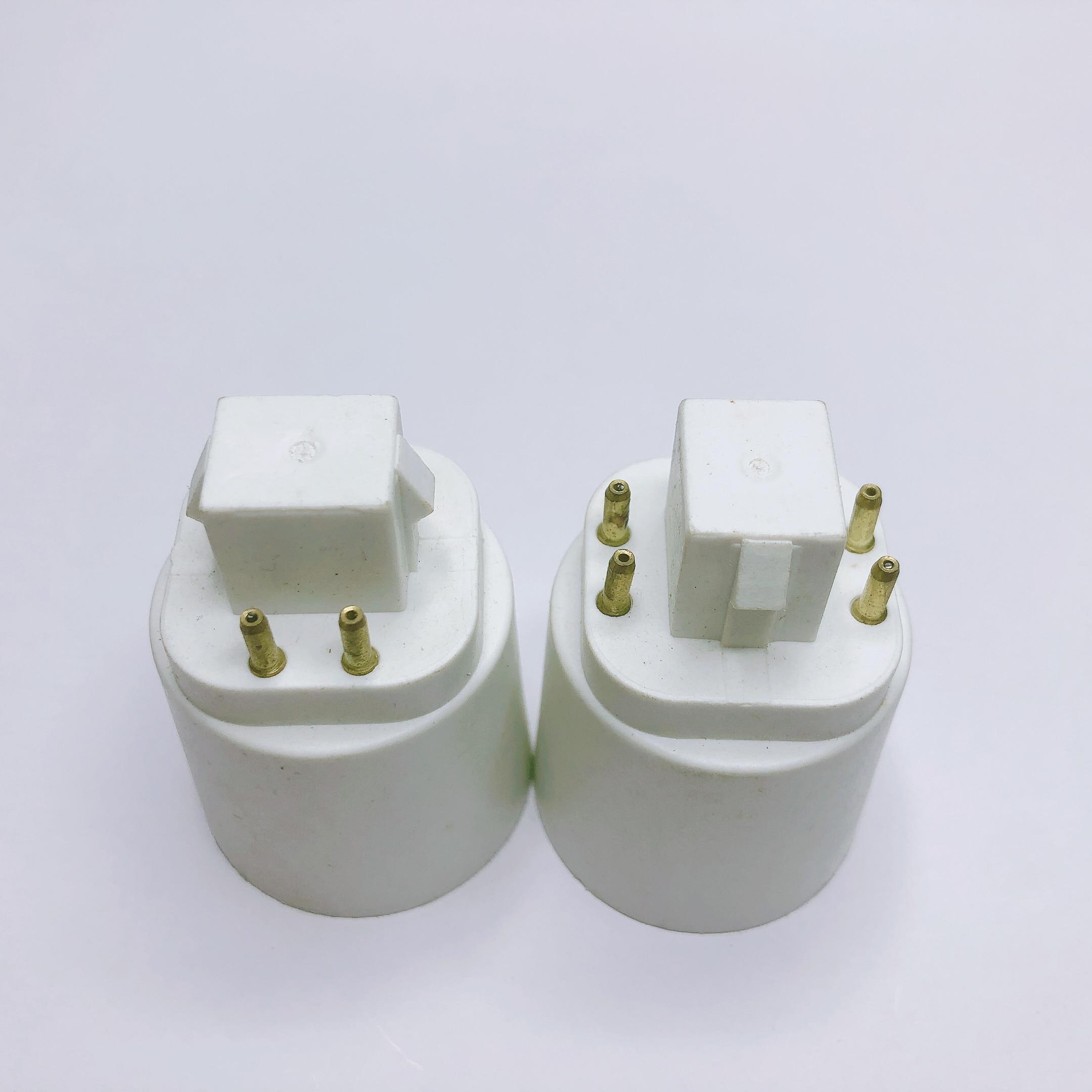 ABS LED G24 To E27 Adapter Socket Halogen Gx24q CFL Light Lamp Base Converter E27 To G24 Bulb Holder Adapter 4pin 85-265V