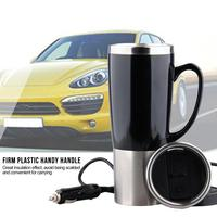 1Set Car Portable Electric Travel Heating Cup Coffee Tea Boiling Mug Kettle Auto Accessories Car Kettle Durable 12V 450ml