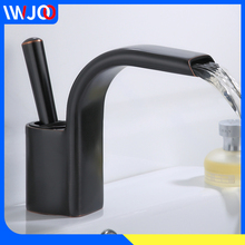 Basin Faucet Black Brass Bathroom Faucet Waterfall Bathroom Sink Faucet Toilet Single Handle Hot and Cold Water Basin Mixer Tap single handle shower faucet mixer water tap bathroom shower basin faucet shower hand copper shower basin faucet hot and cold