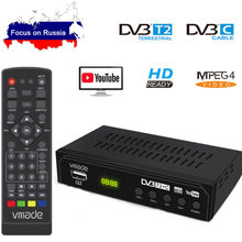 DVB-T2 DVB-C Digitale Tv Tuner Ontvanger Wifi 1080P Hd Decoder Tv Box Dvb-t M3U H.264 Youtube Tv Receptor Russische set Top Box