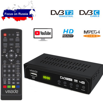 DVB-T2 DVB-C Digital TV Tuner Receiver WIFI 1080P HD Decoder TV Box DVB-T M3U H.264 Youtube TV Receptor Russian Set Top Box dvb t2 dvb t h 264 full 1080p mpeg 2 4 digital tv tuner iptv m3u hd set top box support youtube meecast terrestrial receiver