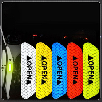 4Pcs/Set Car Door Stickers DIY auto OPEN Reflective Tape for BMW F33 F36 F82 M4 E38 E65 series F32 E66 F01 F02 4 image