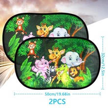 Visor 2pcs-Set Shade Windscreen Car-Shield Protective Pet Roof-Animal World-Shape Baby