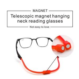 Image 2 - Tr90 leitores óculos de leitura homem feminino ímã portátil diopter pendurado pescoço 1.0 1.5 2.0 2.5 3.0 3.5