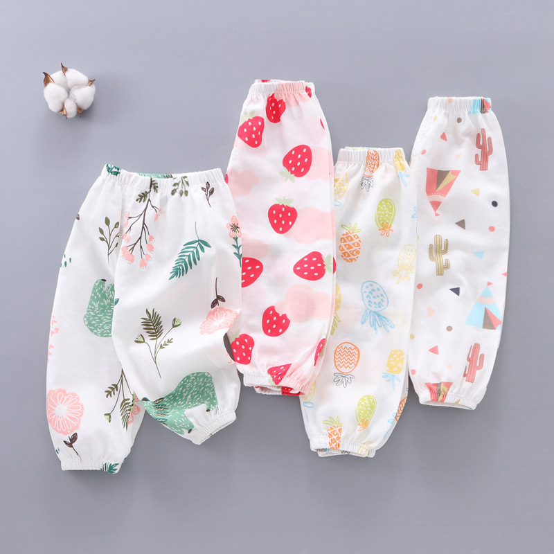 Spring Summer Kids Anti Mosquito Pants Baby Casual Trousers Thin Air Conditioning Pants Baby Pajama Clothing Kids Leggings 1