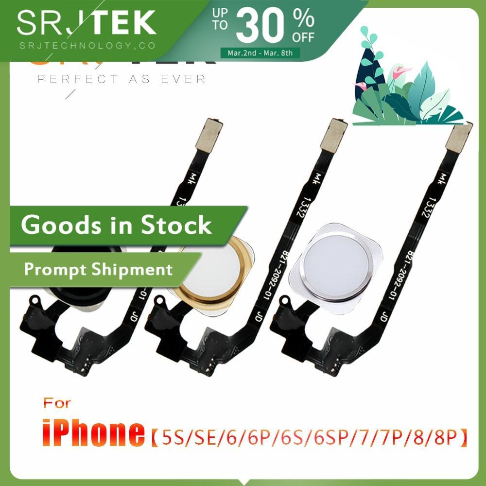Home Button Flex Cable For IPhone 5 S 5S SE 6 6Plus 6s Plus 7 7Plus 7P Home Return Button Flex Cable Assembly