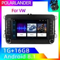 VW Polo Radio 2 Din 7'' Audio Mirror Link GPS Navi Car Stereo For Bora Golf Volkswagen Passat B6 B7 Touran MP5 Player Android 9