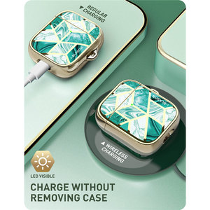 Image 5 - i Blason Cosmo Case Designed For Airpods, 360 Degree Protective Stylish Marble Case Cover Compatiable with AirPods 1st/2nd