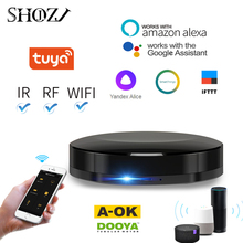 TUYA WIFI + IR + RF 스위치 리모컨 DOOYA AOK Automation SmartThings 호환 가능 Yandex Alice Alexa GOOGLE