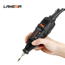 LAMEZIA 220v 180w Mini Electric Angle Grinder Regulating Speed Grinding Machine Tool Engraving Pen For Polishing Woodworking