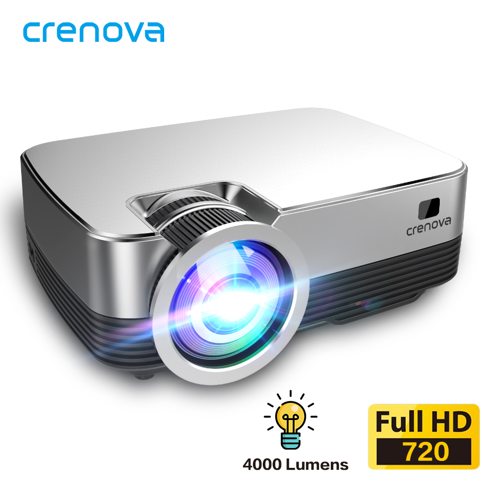 CRENOVA 2020 Newest Android 8 0 OS Video Projector Q6 1280 720P Native Resolution With WIFI Bluetooth Home Cinema Movie Beamer