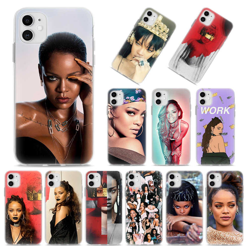 Siliconen Case Voor Iphone X Xr Xs Max 11 Pro Max 7 8 Plus 6 6S Plus 5S se Soft Cover Rihanna Anti Travail Drake Case Coque