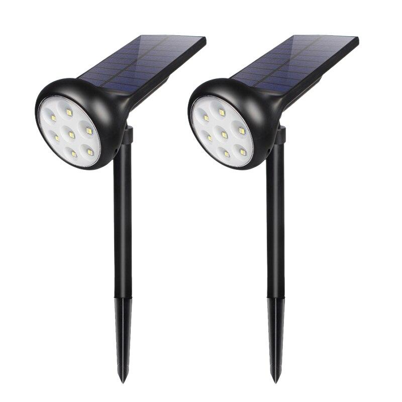 2Pcs Solar Spot Light Outdoor Lawn Garden 7 Led Adjustable Led Solar Lamp Waterproof Ip55 for Street Path Lighting