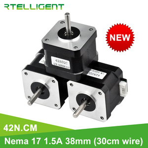 Rtelligent Nema 17 Stepper Motor 38mm 42motor 42BYGH 42N.cm (59.5oz.in) 4 lead stepper motor for 3D Printer Printing CNC XYZ(China)