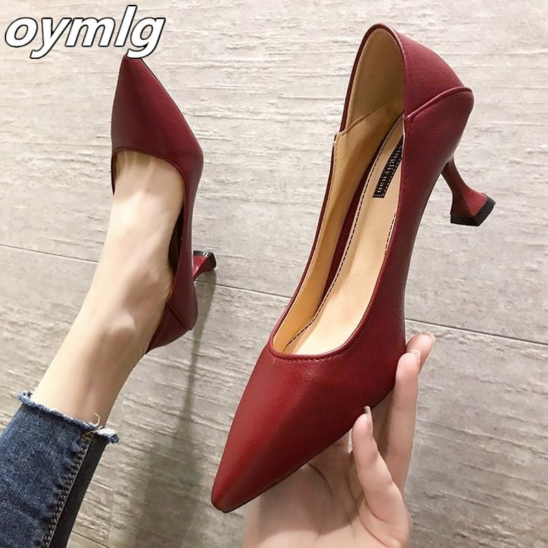2019 New Womens Fashion Sandals Pointed Toe Stiletto Suede Hollow Wild High Heels Sandals