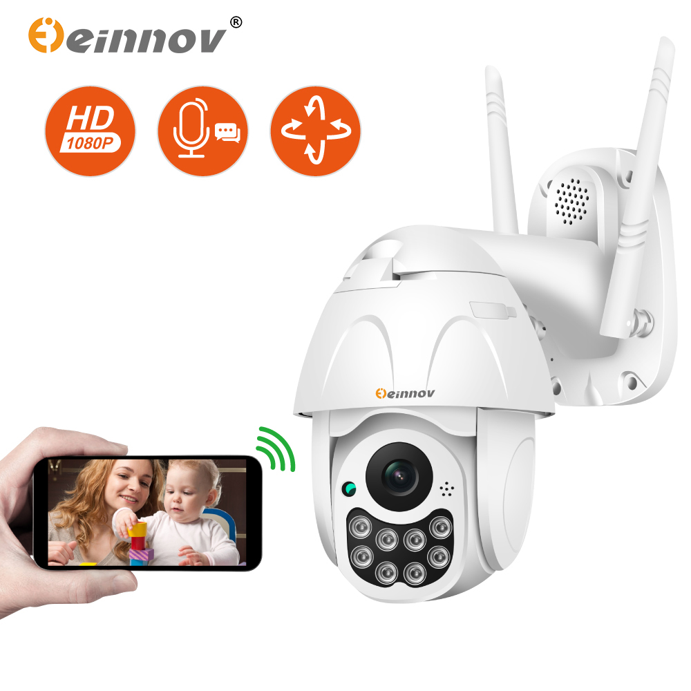 Einnov Wifi IP Camera Wireless Security Camera Outdoor 1080P HD Surveillance Camara Audio Onvif 2MP IR Night Vision P2P Yoosee