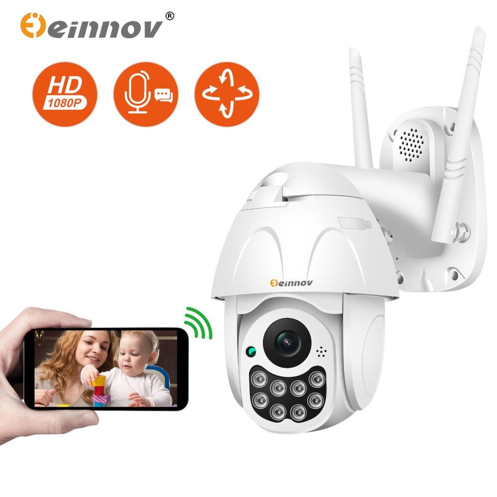 Einnov Wi-fi Câmera IP Câmera de Segurança Sem Fio Ao Ar Livre HD 1080 P Vigilância Camara Onvif Áudio 2MP P2P Visão Nocturna do IR yoosee