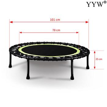 Mini trampolina Fitness kryty trampolina Bungee Rebounder skoki Cardio trener trening siłownia skok sport dorośli bezpieczeństwo dzieci tanie i dobre opinie WOMEN Składany 40 cal 20041708063155758 487031 Polypropylene-PP Fitness Rebounder Sports Equipment flexible jumping trampoline sports