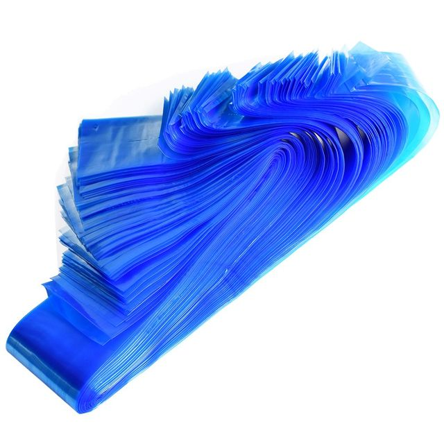 100pcs Medical Blue Plastic Tattoo Machine Clip Cord Sleeves Covers Bags 2
