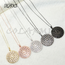 5 piece Round pendants necklace micro paved zircon jewelry for women accessories gift necklace for women 50195