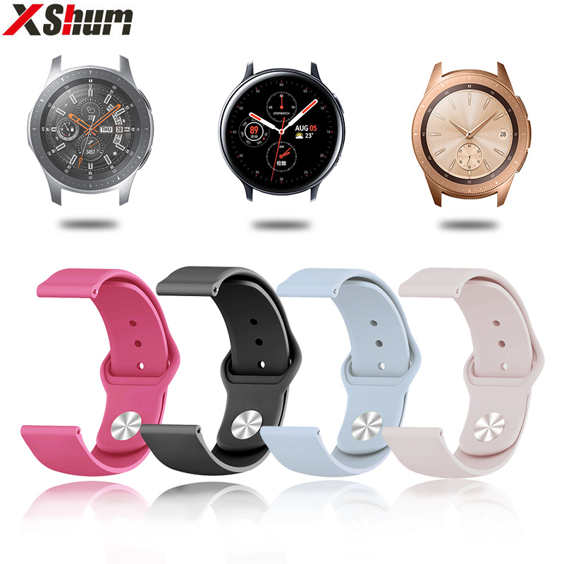 20mm Silicone Strap Band For Samsung Galaxy Watch Active 2/Gear S2 Classic/Galaxy Watch 42mm Sport Bracelet Watchband Accessory