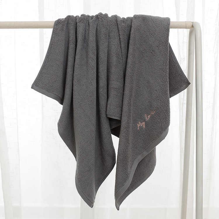 Premium Katoen Badkamer Handdoeken voor Volwassenen Zoete Letters Geborduurd Bad Gezicht Handdoek Dikke Katoenen Gift Handdoeken voor Liefhebbers